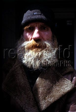 A portrait of Michael, a homeless man from Whitechapel in East London, U.K.